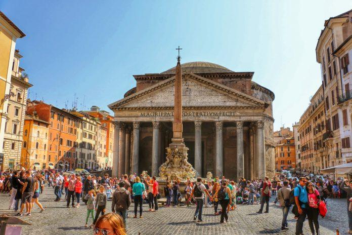 Roma Pantheon Fontana