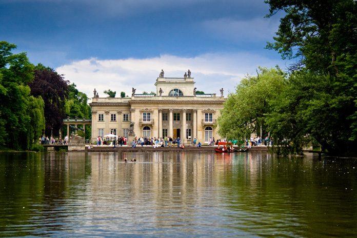 Varsavia Palazzo sull'acqua Parco Lazienki