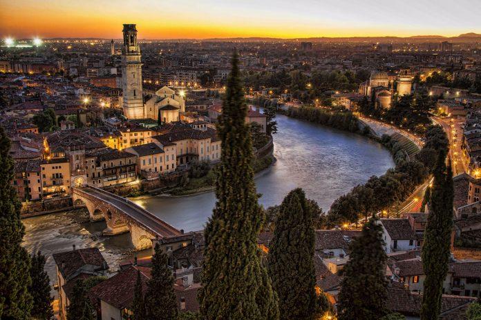 Verona Veduta Castel San Pietro