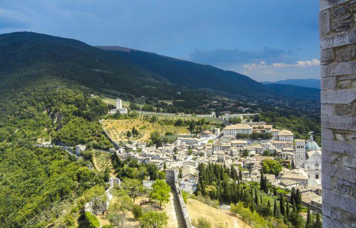Assisi panorama da Rocca Maggiore