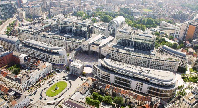 Bruxelles Parlamento Europeo Veduta Aerea