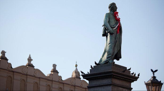 Cracovia Statua di Adam Mickiewicz
