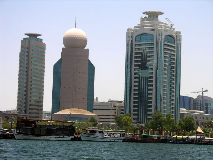 Dubai Deira Etisalat Tower and Dubai Creek Tower