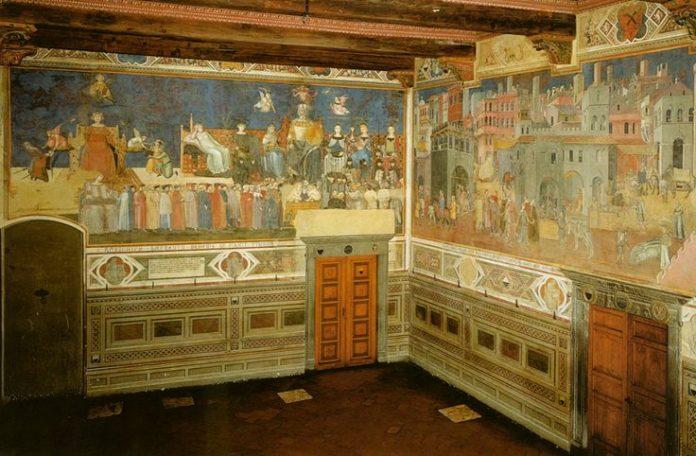 """Siena La Sala dei Nove e del """"buon governo"""""""